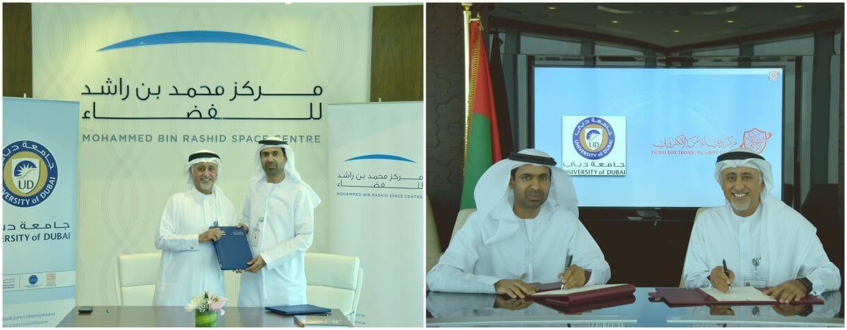 وقّع المذكرة كل من سعادة يوسف حمد الشيباني، المدير التنفيذي لمركز دبي للأمن الإلكتروني، وسعادة الدكتور عيسى محمد البستكي، رئيس جامعة دبي.