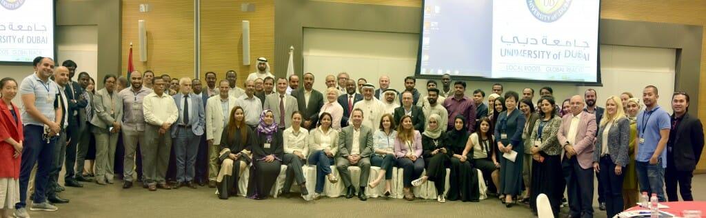 عقد رئيس جامعة دبي الدكتور عيسى البستكي اجتماعاً للمدراء وأعضاء هيئة تدريس وموظفي الجامعة للتعريف ومناقشة الخطة الاستراتيجية لجامعة دبي للسنوات المقبلة 2017-2022.