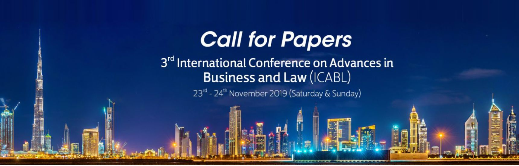 3rd International Conference on Advances in Business and Law (ICABL)