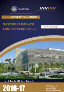 Masters of Business Administration Handbook